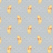 Camelot Design Studios Winnie The Pooh - 4608 - Pooh with Honey Bees on Pale Grey - 85430105 1 - Cotton Fabric